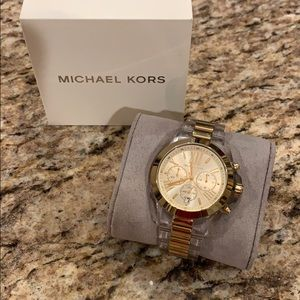 Michael Kors Lucite and gold tone watch